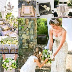 Blumen Dekoration und Hochzeitseinladungen von 20er Jahre Vintage Hochzeit  Inspiration für die 20er Jahre Vintage Hochzeit