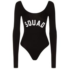 Private Party Squad Long Sleeve Body (1,670 MXN) ❤ liked on Polyvore featuring bodysuit