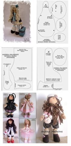 You Can Enjoy fabric dolls With These Useful Tips Doll Crafts, Diy Doll, Sewing Crafts, Doll Clothes Patterns, Doll Patterns, Sewing Dolls, Doll Tutorial, Waldorf Dolls, Soft Dolls
