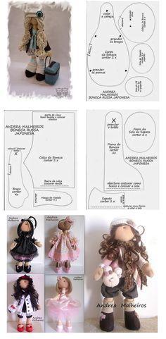 MUÑECA RUSA.-   Molde da famosa boneca russa by Andrea Malheiros .