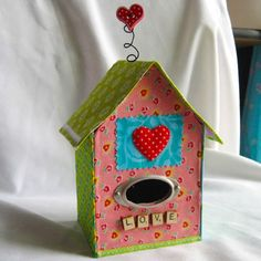 Mixed Media Fabric Birdhouse