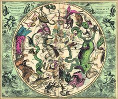 celestial map from 1700s