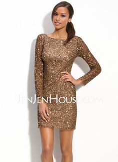 Mother of the Bride Dresses - $182.39 - Sheath Scoop Neck Knee-Length Satin  Lace Mother of the Bride Dresses With Lace (008006439) http://jenjenhouse.com/Sheath-Scoop-Neck-Knee-length-Satin--Lace-Mother-Of-The-Bride-Dresses-With-Lace-008006439-g6439