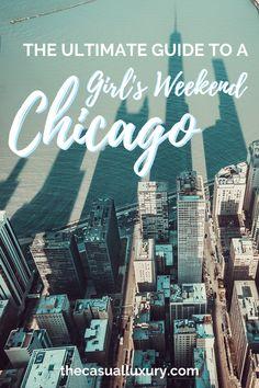 Chicago Bachelorette Ideas // Girls Weekend in Chicago // Girlfriends trip to Chicago // Weekend in Chicago // Chicago Travel Guide // Where to Stay in Chicago // #visitChicago #visitChi