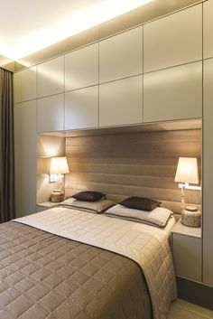 Modern Bedroom storage - Bedroom Design Ideas 8 Ways To Create The Ultimate Bed Surround With Storage. Small Master Bedroom, Bedroom Bed, Bedroom Apartment, Bedroom Decor, Apartment Therapy, Small Bedroom With Wardrobe, Wardrobes For Small Bedrooms, Small Bedroom Storage, Wardrobe Behind Bed