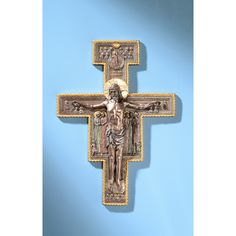 San Damiano Bronzed Crucifix, 11x16 | The Catholic Company
