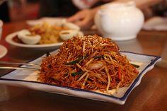 Recette Nouilles chinoises sautées aux légumes et au porc