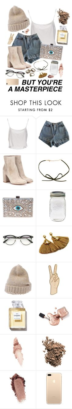 But your a masterpiece by thatxlonelyxgirl on Polyvore featuring Jean-Paul Gaultier, American Apparel, Gianvito Rossi, GEDEBE, Lucky Brand, ara, DOSE of ROSE, Mes Demoiselles..., Dolce&Gabbana and Maybelline
