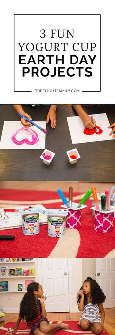 AD Looking for some fun and easy Earth Day projects to do with yogurt containers? Here are 3 ways to re-use them for Earth Day projects.