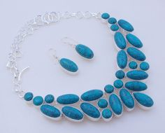 99-Gr Stunning Turquoise .925 Silver Handmade Jewelry Necklace (f-142) by PINKCITYGEMS on Etsy