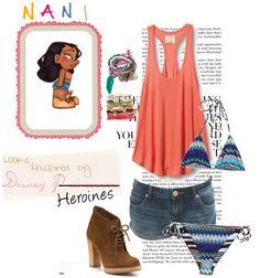 """Looks Inspired by Disney P̶r̶i̶n̶c̶e̶s̶s̶e̶s̶ Heroines: Nani."" by jaimarycartaya on Polyvore"