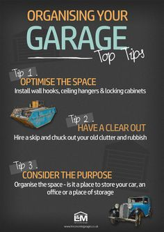 If you are starting the New Year with a spring clean, here are some tips on organising your #garage!