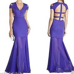 Ava BCBG Prom Evening Gown Dress Formal Size 4. NWT. Purple BCBGMaxAzria Dresses Prom