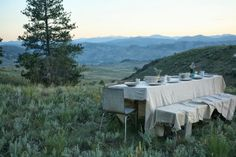 Country Feast.... oh to have a view like this....i'd eat all my meals there!