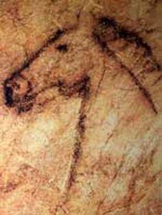 Cueva de tito bustillo, ribadesella (asturias)  Galería de los Caballos no sólo se ven representaciones de équidos, sino que también hay figuras de bisontes e incluso la de un reno. Las pinturas más antiguas de esta gruta datan de hace unos 25 000 años. Spain History, Paleolithic Art, Cave Drawings, Art Ancien, Ancient Mysteries, Alcohol Ink Art, Native American Art, Ancient Art, Animal Paintings