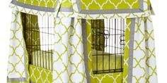 Upgrade Fido's quarters with a slipcover that matches his personality. Go classic with simple patterns and practical details or splurge on a fanciful castle.