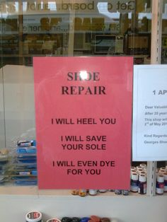 shoe repair-If I ever had a job like this- I would so be this person
