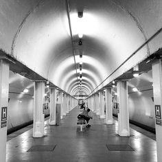 Monday http://instagram.com/i_travellite #chicago #cta #trainstation #blackandwhite #itravellite