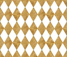 Harlequin Diamonds ~ White and Gilt ~ Mosaic fabric by peacoquettedesigns on Spoonflower - custom fabric Custom Fabric, Spoonflower, Art Nouveau, Mosaic, Craft Projects, Clock Faces, Miniatures, Quilts, Flowers