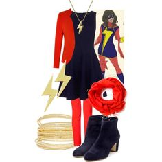 Designer Clothes, Shoes & Bags for Women Nerd Fashion, Fandom Fashion, Only Fashion, Slow Fashion, Ms Marvel Kamala Khan, Marvel Costumes, Character Inspired Outfits, Casual Cosplay, Geek Chic