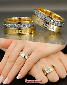 Gold Ring Designs, Gold Bangles Design, Gold Earrings Designs, Wedding Ring Designs, Gold Wedding Rings, Wedding Ring Bands, Indian Engagement Ring, Engagement Rings Couple, Gents Ring Design