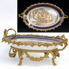 Grande coupe ovale en porcelaine de Sèvres - AnticStore Antiquités 19ème siècle -