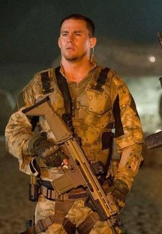 My two favorite things- Channing Tatum~ and a man in uniform. Yes, please.