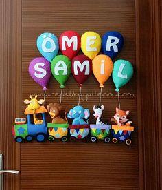 https://flic.kr/p/22rvyos | Ömer Şamil isimli trenli erkek bebek kapı süsü | Ömer Şamil Bebek www.renklihayallerim.com/urun/trenli-kapi-susu/  www.renklihayallerim.com/urun-kategori/kapi-susleri/