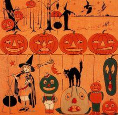 Veggie People Vintage Halloween Crepe Paper