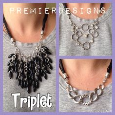Triplet! One of Premier Designs new pieces from our 2015-2016 collection. One necklace with 3 interchangeable bibs!