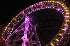 Wiener Riesenrad in Vienna, Austria. The Viennese Giant Ferris Wheel in October 2013.