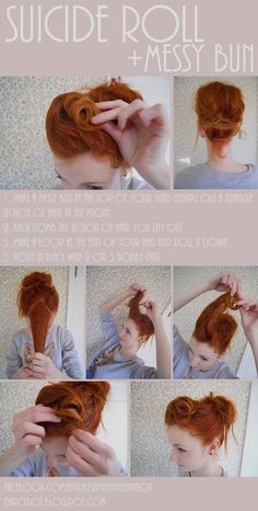 Vintage Hairstyles Pinup Hair Tutorials Ideas - MY World Pelo Pin Up, Pinup, Pelo Retro, Retro Hairstyles, Vintage Hairstyles Tutorial, Vintage Hair Tutorials, Pin Up Hairstyles, Long Hair Tutorials, Rockabilly Hair Tutorials