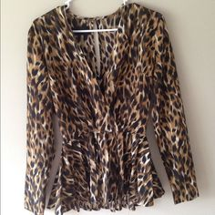 Kardashian top- small- perfect condition Sexy top by Kardashians- size small- animal print Kardashian Kollection Tops Blouses