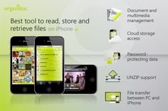 OrganiDoc - Your best file manager and PDF viewer | TopAppsToday    Turn your iPhone into an USB flash disk on the go.  If you got any of the following problems, OrganiDoc is definitely the apps you are looking for.  1. Will you only be able to revisit important attachments by re-downloading email again?  2. Don't know what useful things to fill the large storage on iPhone?