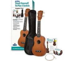 If you don't know how to play any instruments, why not learn with the gentle island sounds of a ukulele? This kit comes with a Ukulele, a carrying bag, extra strings, and a teaching book along with an instructional DVD and CD. Have some fun making some unique music.
