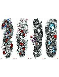 Full Arm Temporary Tattoos Extra Fake Tattoo Body Art Stickers for Men Women (4 Sheets) ** Check out the image by visiting the link. (As an Amazon Associate I earn from qualifying purchases) Real Tattoo, Fake Tattoos, Body Art Tattoos, Sleeve Tattoos, Temporary Tattoo Sleeves, Party Tattoos, Cold Cream, Tattoo Parlors, Body Makeup