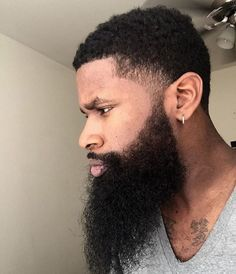 Trendy hair styles men black beard styles Ideas - New Site Dark Auburn Hair Color, Dark Hair, Black Man, Thick Beard, Black Men Beards, Beard Tips, Beard Game, Beard Styles For Men, Beard Grooming
