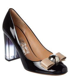 SALVATORE FERRAGAMO SALVATORE FERRAGAMO FIAMMETTA 85 PATENT PUMP'. #salvatoreferragamo #shoes #pumps & high heels