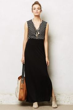 Maxi with striped top