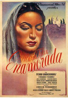 """Poster de """"Enamorada"""" (1946), con María Félix."""