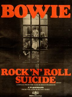Bowie, Rock 'n' Roll Suicide Rock Posters, Band Posters, Concert Posters, Gig Poster, David Bowie Blackstar, Bowie Starman, David Bowie Aladdin Sane, Magazine Maker, Magazine Covers