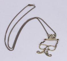 $1.79  36.7cm Sweater Chain Necklace Jewelry Beard Shape Coppery