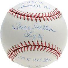 Steve Carlton Philadelphia Phillies Fanatics Authentic Autographed Baseball with Multiple Stat Inscriptions Phillies Baseball, Baseball League, National League, Autographed Baseballs, Philadelphia Phillies, Major League, Mlb, Link
