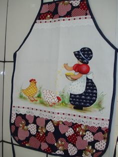 Felt Crafts, Fabric Crafts, Diy And Crafts, Ribbon Embroidery, Machine Embroidery, Applique Patterns, Sewing Patterns, Chicken Quilt, Apron Tutorial
