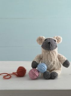 Top 10 sheep knitting patterns - Lamb Sock Critter knitting pattern by Lion Brand available to download at LoveKnitting