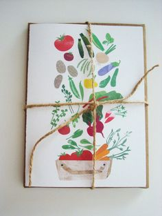 4 A6 endless harvest CARDS with kraft envelopes by redcruiser, $8.00