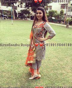 #pintrest@Dixna deol Lovely Dresses, Stylish Dresses, Simple Dresses, Pakistani Dresses, Indian Dresses, Indian Outfits, Patiala Suit Designs, Salwar Designs, Punjabi Fashion