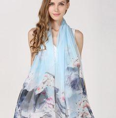 Elegantná hodvábna dámska šatka - 180 x 110 cm - vzor 10 Mooncake, Kimono Top, Outfit, Tops, Women, Fashion, Outfits, Moda, Fashion Styles