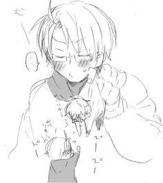 """USUK- Alfred is just like """"nuu! Iggy is mine!"""""""
