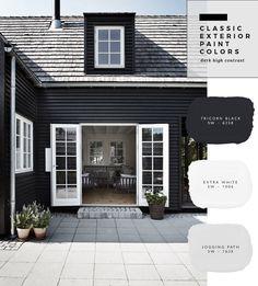 52 New Ideas Exterior House Paint Color Combinations Modern Colour Exterior Paint Color Combinations, Exterior Color Palette, House Paint Color Combination, Exterior Paint Colors For House, Paint Colors For Home, Paint Colours, Painting House Exteriors, House Color Combinations, Exterior Paint Ideas